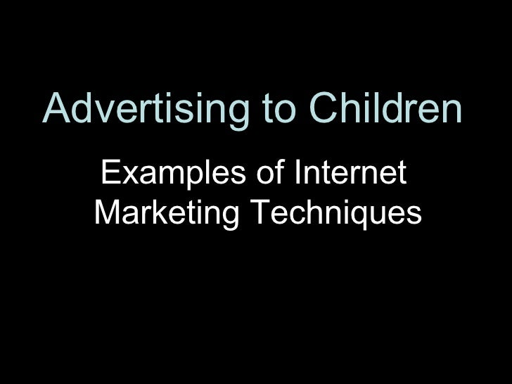 advertising to childern More than ever before, advertising and entertainment are inextricably linked advice from common sense media editors.