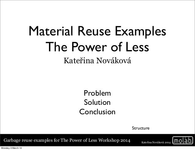 Examples For Power Of Less