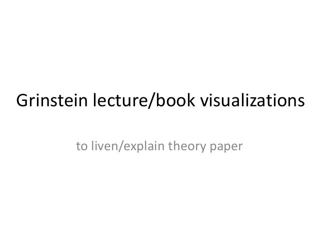 Grinstein lecture/book visualizations to liven/explain theory paper