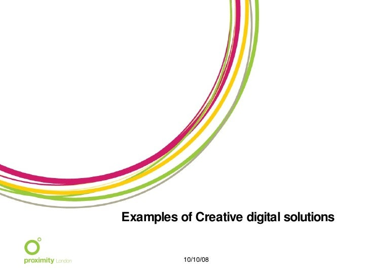 Examples of Creative digital solutions 06/05/09