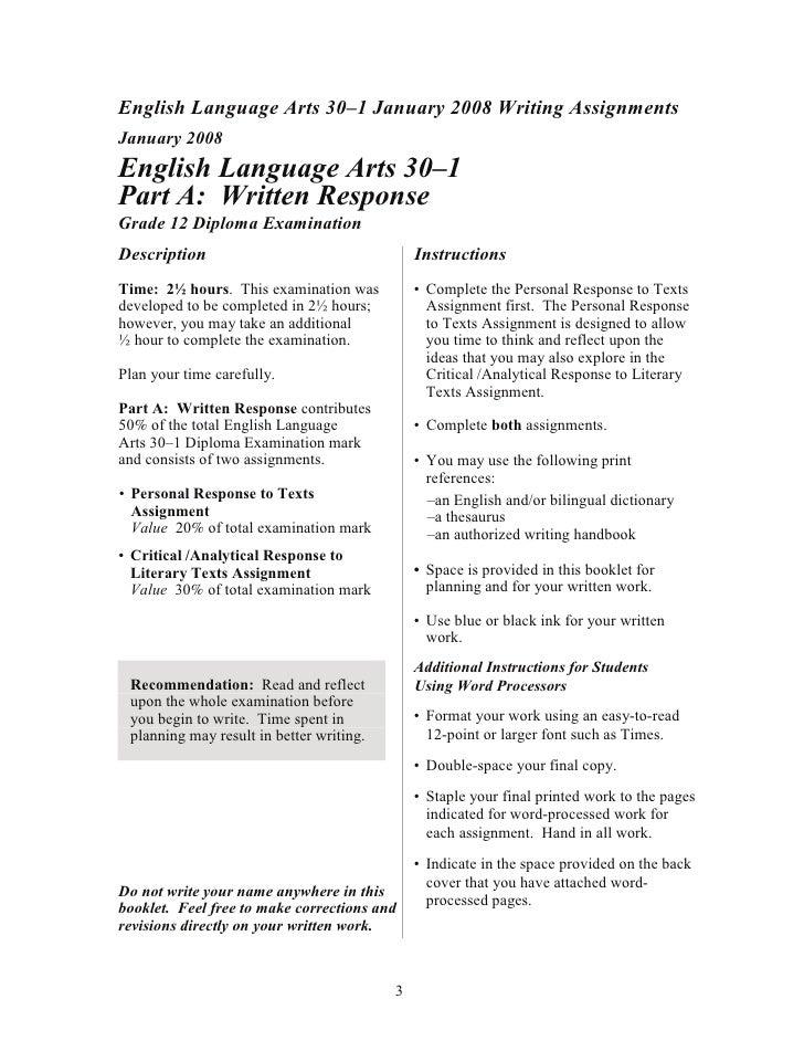 english 30-1 diploma essay examples