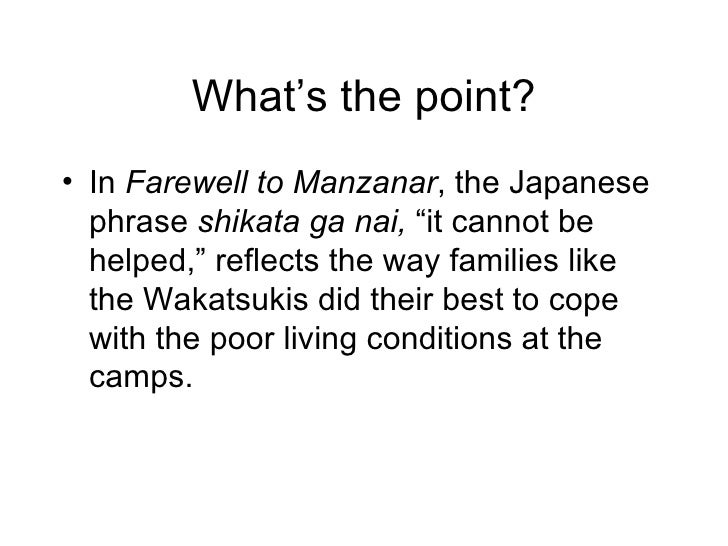 farewell to manzanar essay questions Jeanne wakatsuki houston's farewell to manzanar essay - a japanese american tragedy farewell to manzanar, written by jeanne wakatsuki houston, japanese american, and james d houston, describes about the experience of being sent to an internment camp during world war ii.