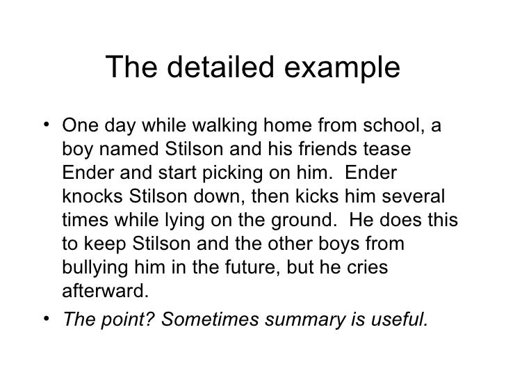 using multiple examples in expository writing  9 the detailed example