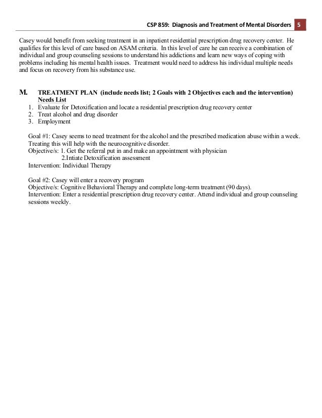 Example SA Assessment Diagnosis