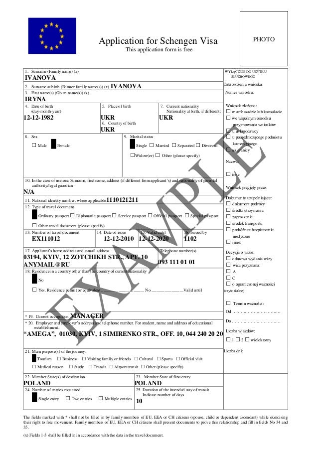 How to fill schengen visa application form dolapgnetband how to fill schengen visa application form altavistaventures Image collections