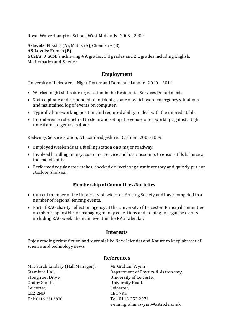 Skills On Resume Example | Example Skills Based Cv