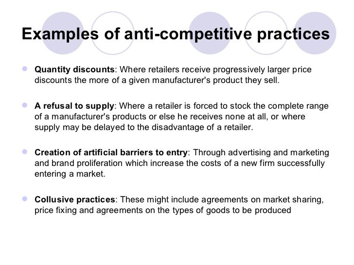 Examples Of Antitrust Policies And Case Studies