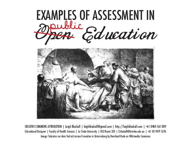 EXAMPLES OF ASSESSMENT IN                      public          Open EducationCREATIVE COMMONS ATTRIBUTION | Leigh Blackall...