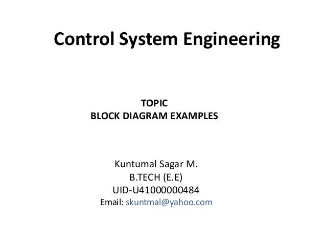 Block Diagram Examples