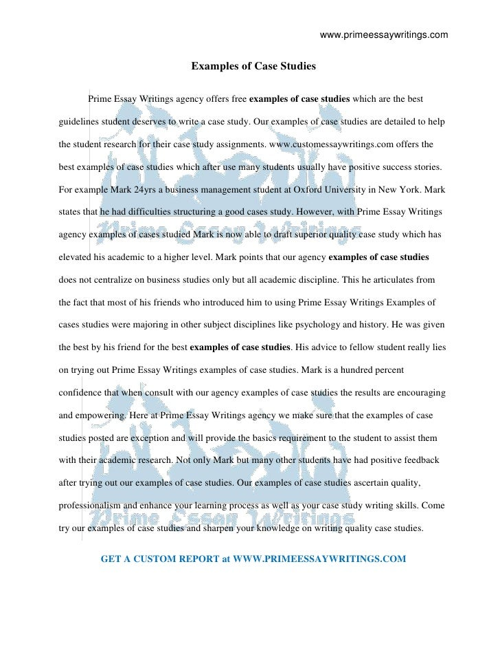 28+ [ Case Study Essay Sample ] | Case Study Essay Writing Samples ...