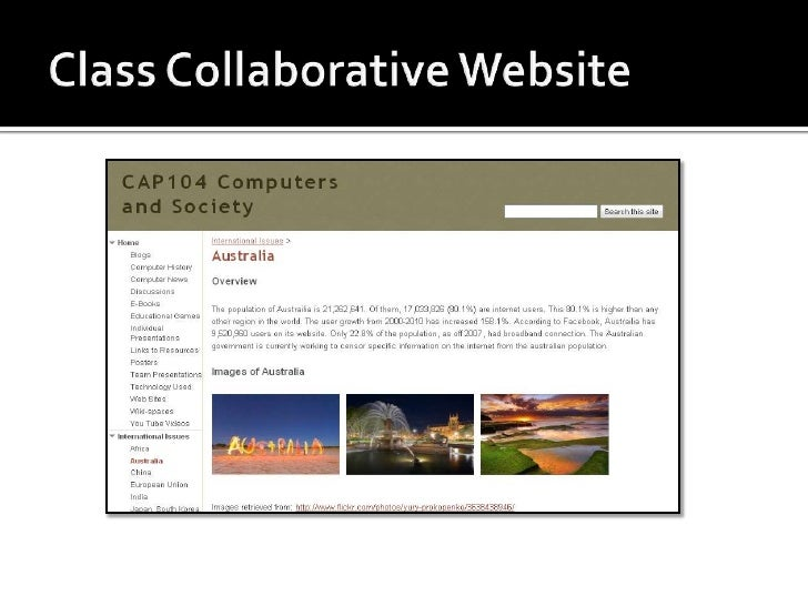 Collaborative Classroom Presentation ~ Examples of collaborative and individual projects
