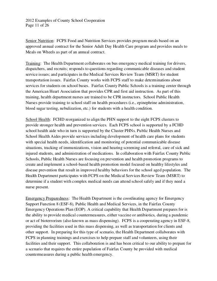 examples of countyschool cooperation