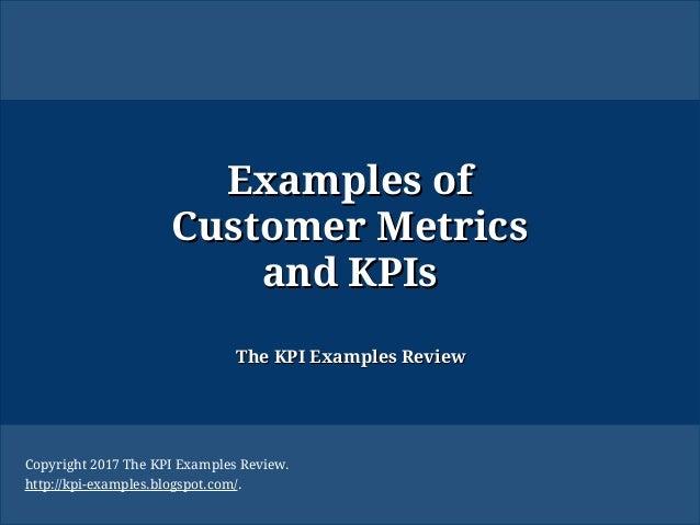 Examples Of Customer Metrics And Kpis Crm Metrics Kpi