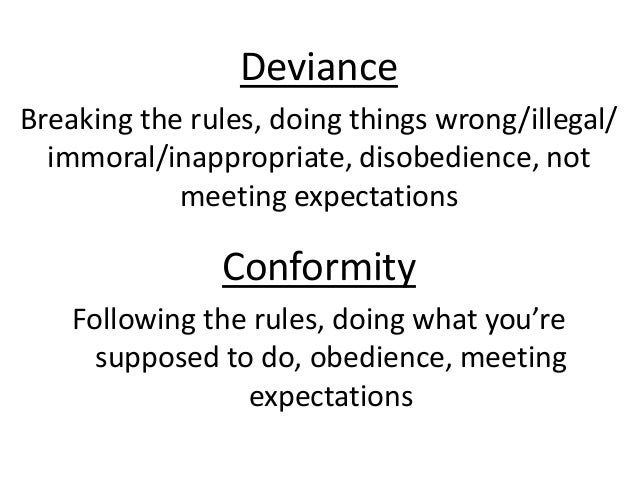 different types of deviance