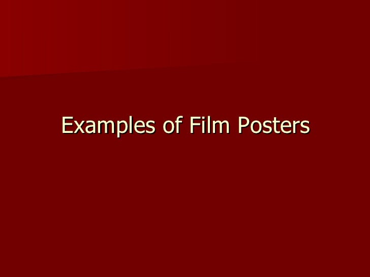 Examples of Film Posters