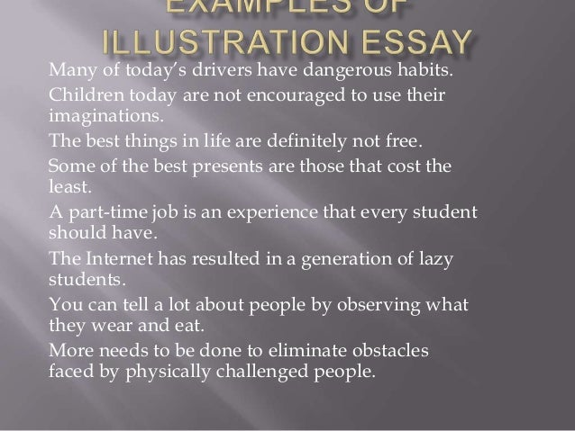 Topics for an illustration essay