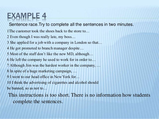 Examples Of Instructions
