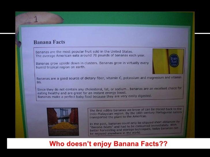 who doesnt enjoy banana facts