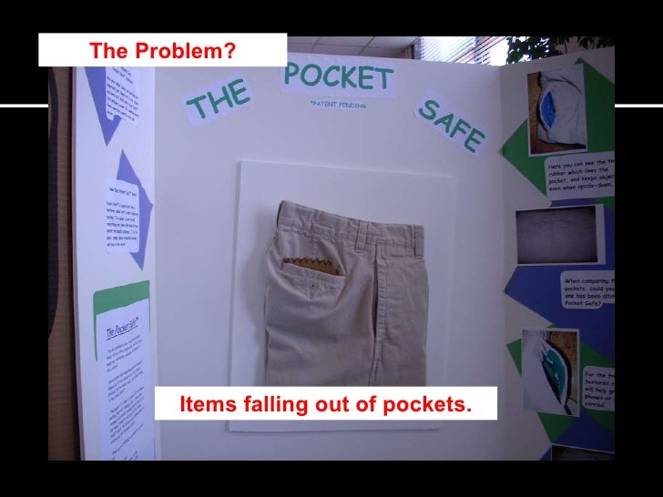 the problem items falling out of pockets