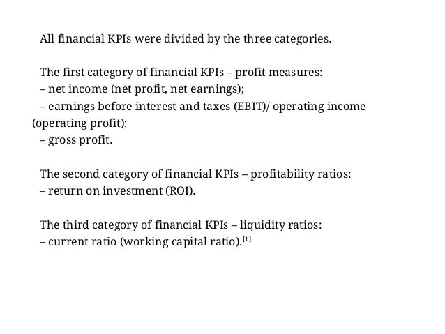 Examples Of Key Performance Indicators For Finance Manager Key Perfo