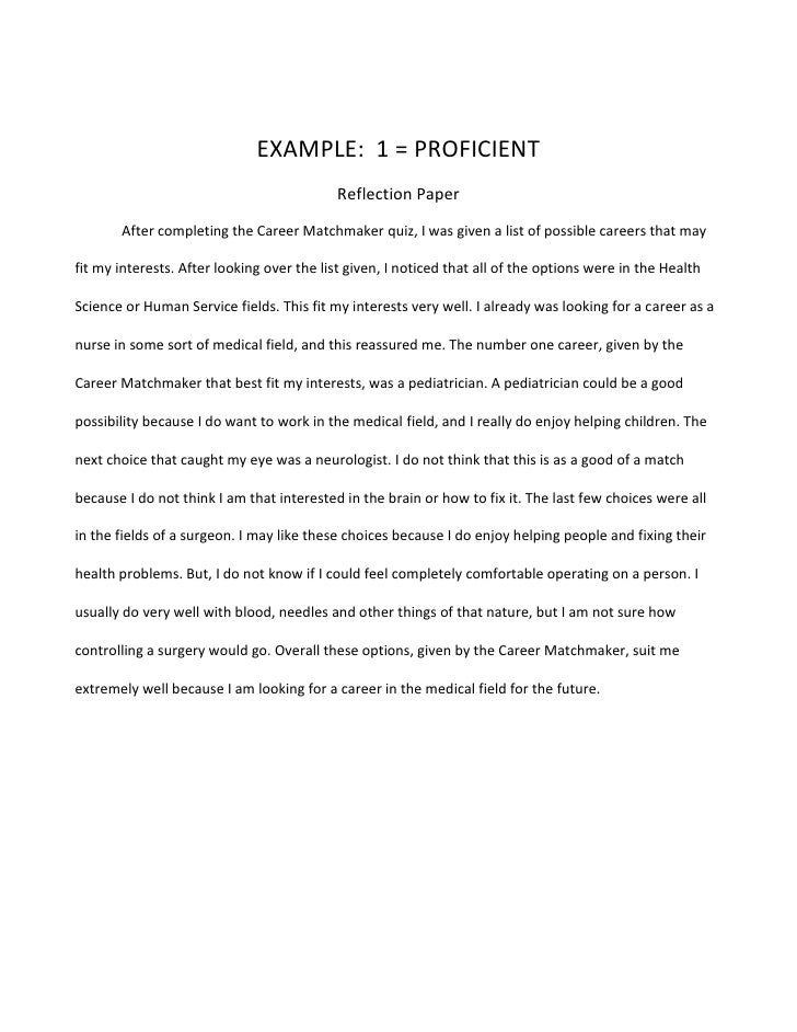 Essay On Science And Society Example Of Reflection A Modest Proposal Essay also Essay With Thesis Statement Example Example Of Reflection  Resumessmemberproco Business Law Essay Questions