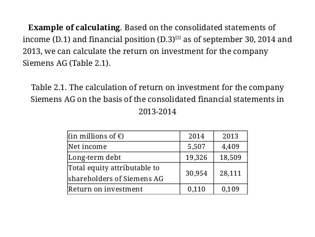 financial statement analysis example