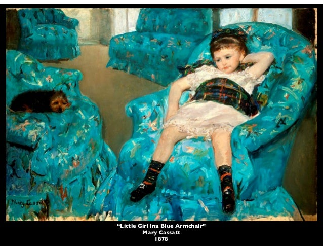 Perfect U201cLittle Girl Ina Blue Armchairu201d Mary Cassatt ...