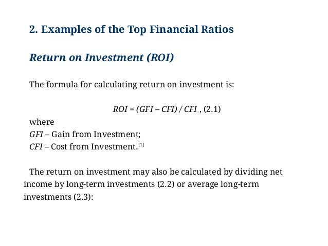 Examples Of The Top Financial Ratios: Analysis, Example, Major Ratios…