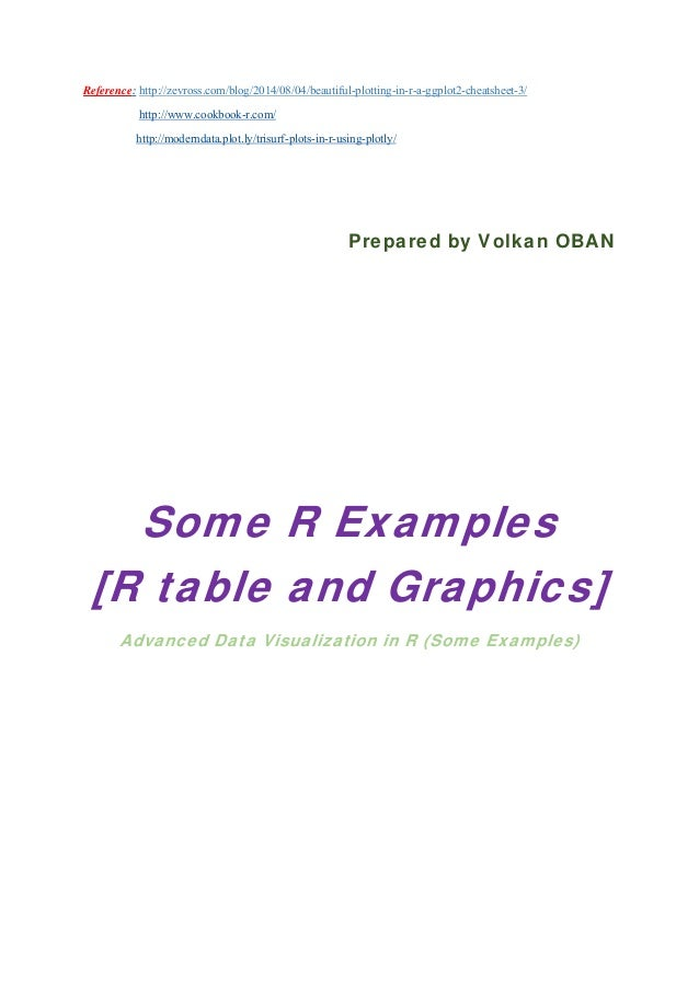 Some R Examples[R table and Graphics] -Advanced Data