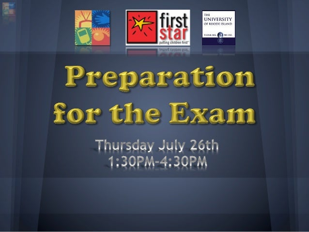 Introduction to the exam
