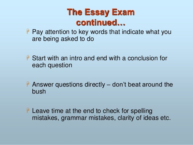 article on how to prepare for examination