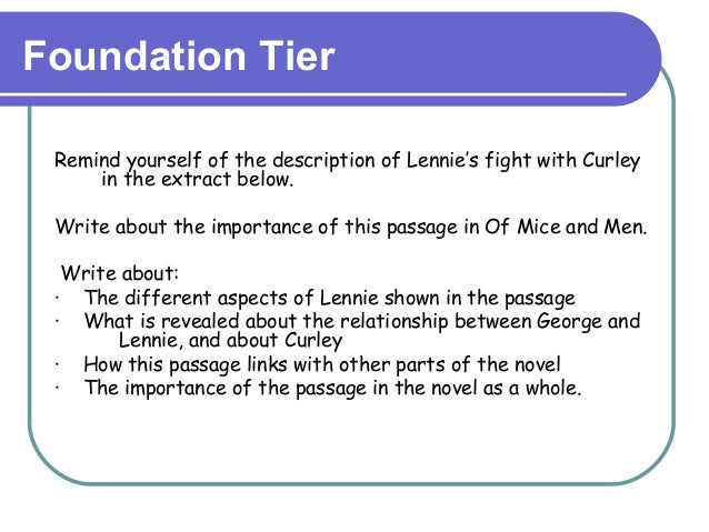 differences between george and additionally lennie