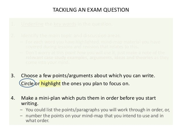 essay on examination skills Look at the essay about life skills and do the exercises to improve your writing   life skills writing skills exams essay language level: upper intermediate/b2.