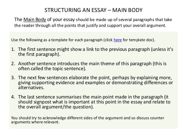 exam skills focusing on exams essay questions  structuring an essay introduction 7