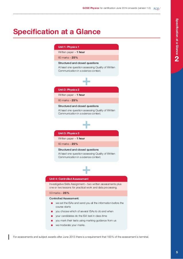 AQA GCSE Physics Exam Specification