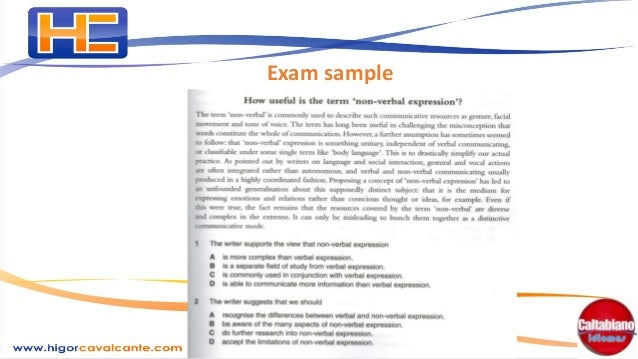 How to write an article for an international exam (CPE