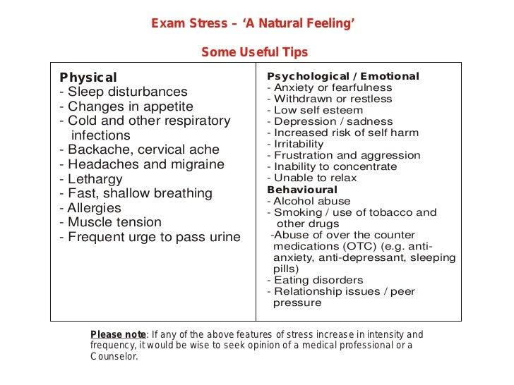 Exam Stress A Natural Feeling Practical Examination