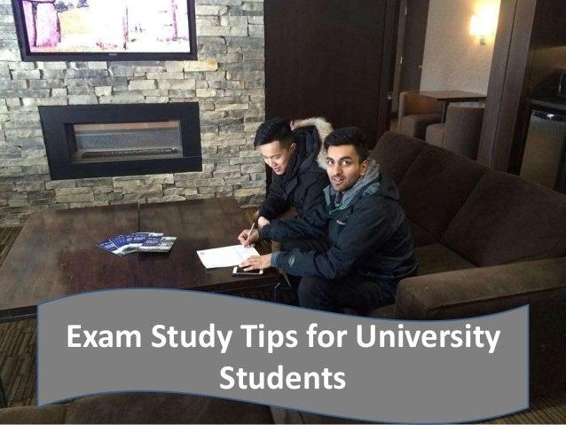 Exam Study Tips for University Students