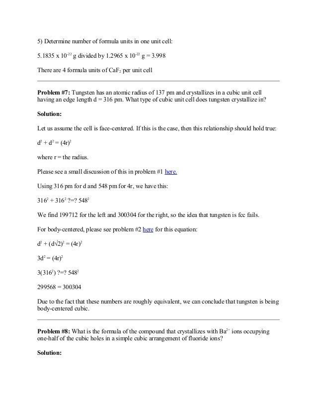 exam worksheet unit cell. Black Bedroom Furniture Sets. Home Design Ideas