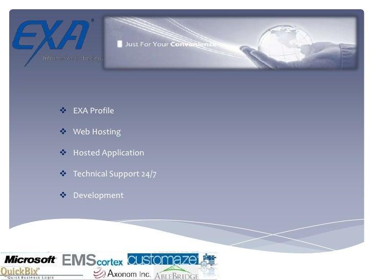 <ul><li>EXA Profile