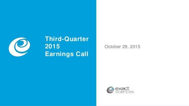 Third Quarter 2015 Earnings Call Slides