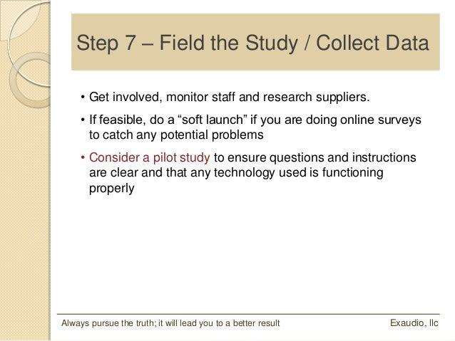 Feasible study format sample