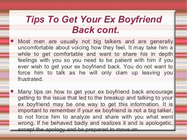 If You Are Looking For Tips On How To Get Your Ex Boyfriend Back, Her…