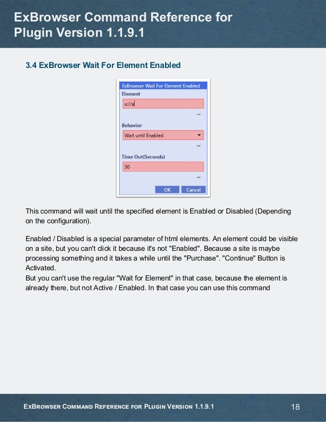 Exbrowser command-reference