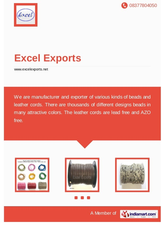 08377804050 A Member of Excel Exports www.excelexports.net We are manufacturer and exporter of various kinds of beads and ...