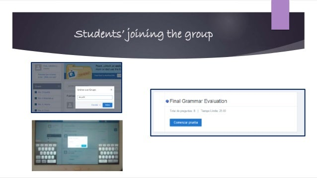 Students' joining the group