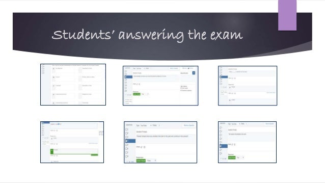 Students' answering the exam