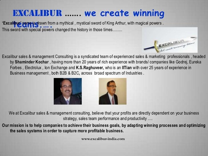 Excalibur consulting  Slide 2