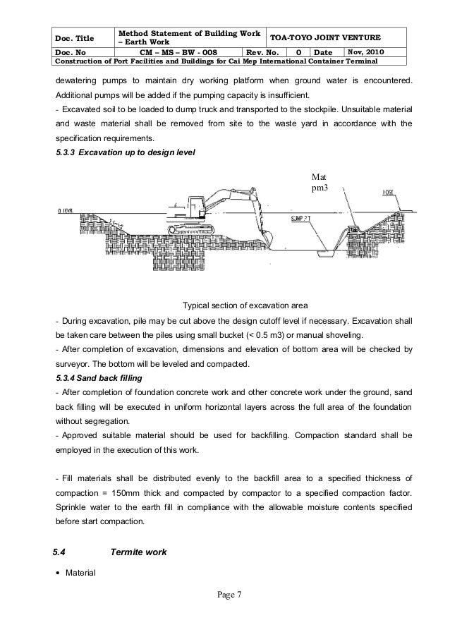safety method statement checklist pdf