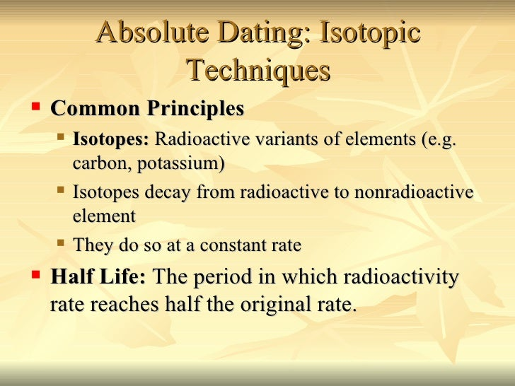 What are some absolute dating methods